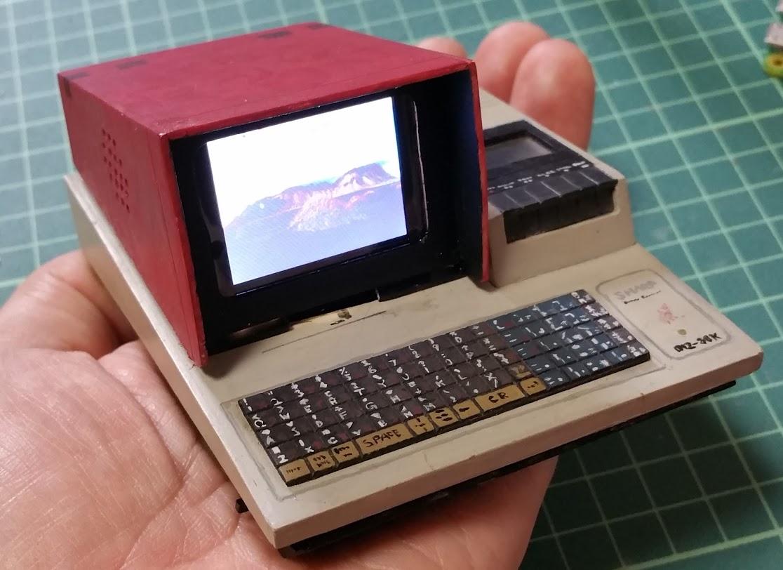 Een hele kleine Sharp MZ-80K